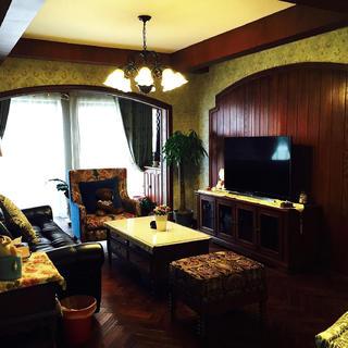 100平美式三居装修实景图
