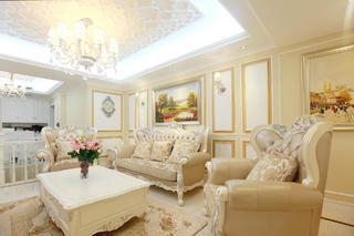 大户型法式风格装修客厅设计图