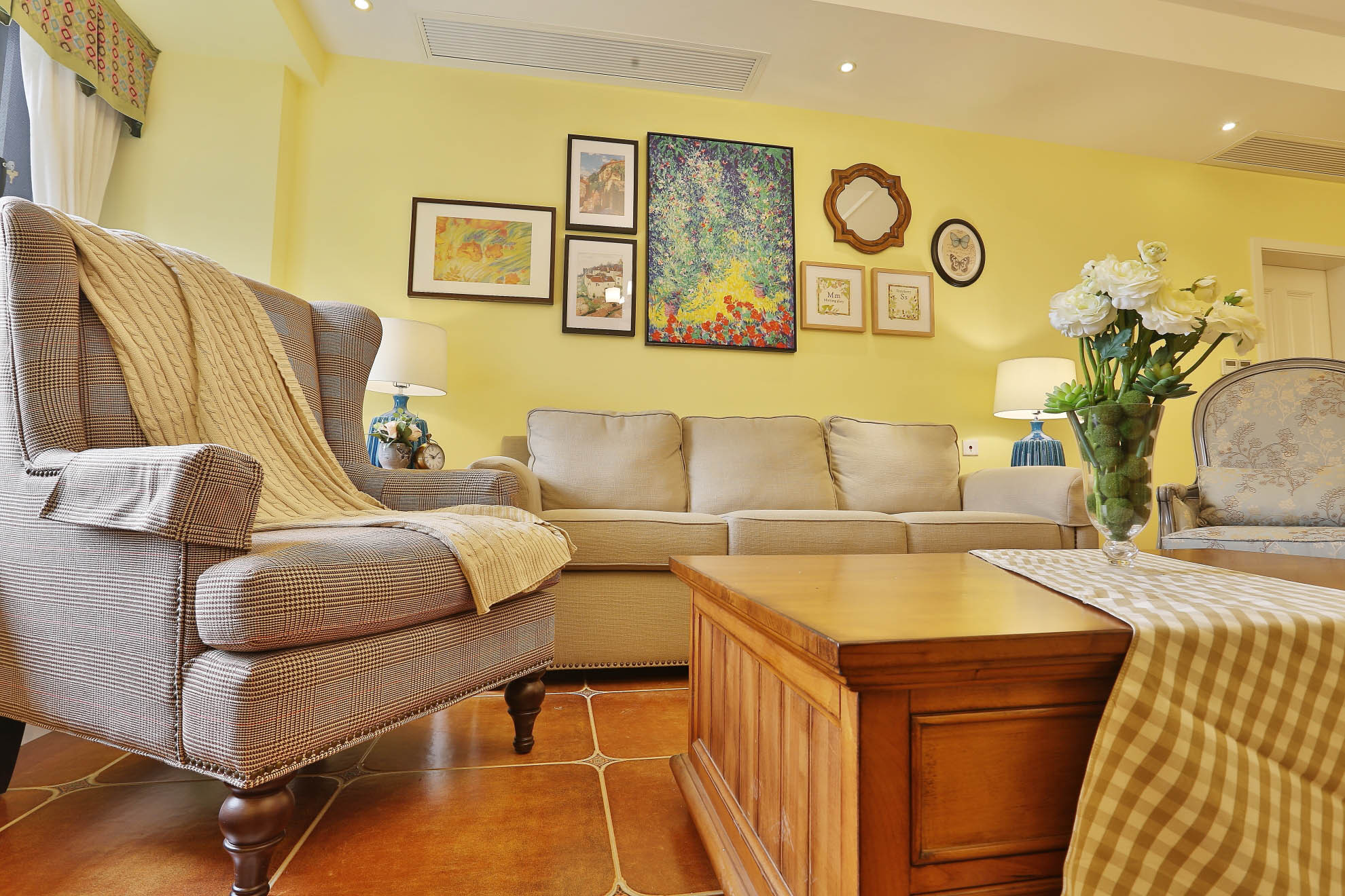 美式乡村风格家沙发图片