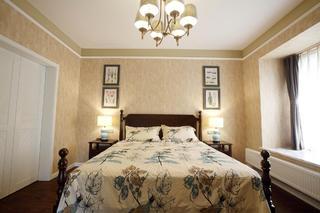 美式乡村风格家卧室背景墙图片