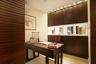 新中式别墅装修书房布置图