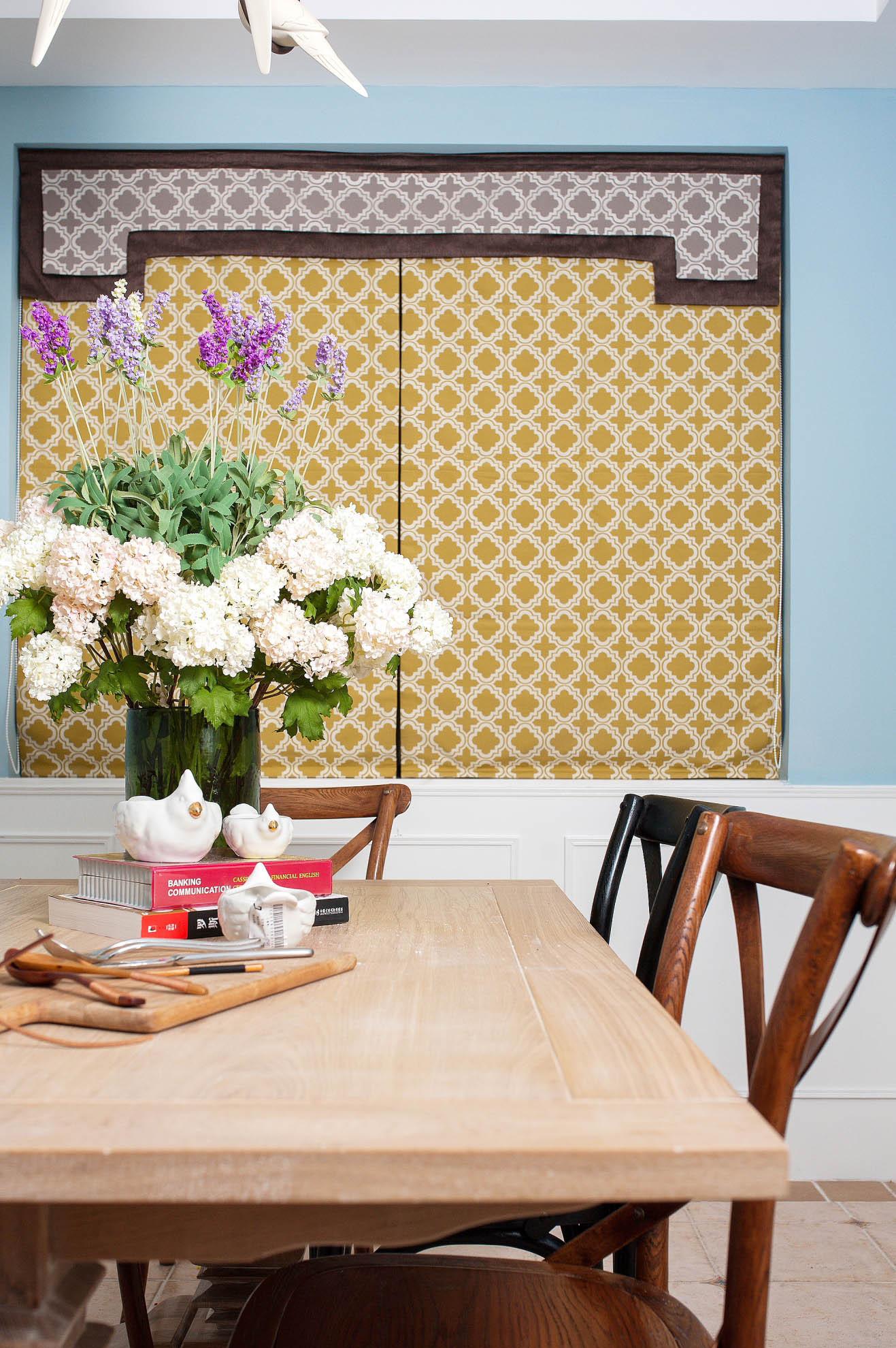 140平美式混搭装修餐桌图片