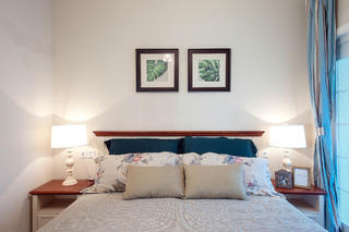 140平美式混搭装修卧室背景墙图片