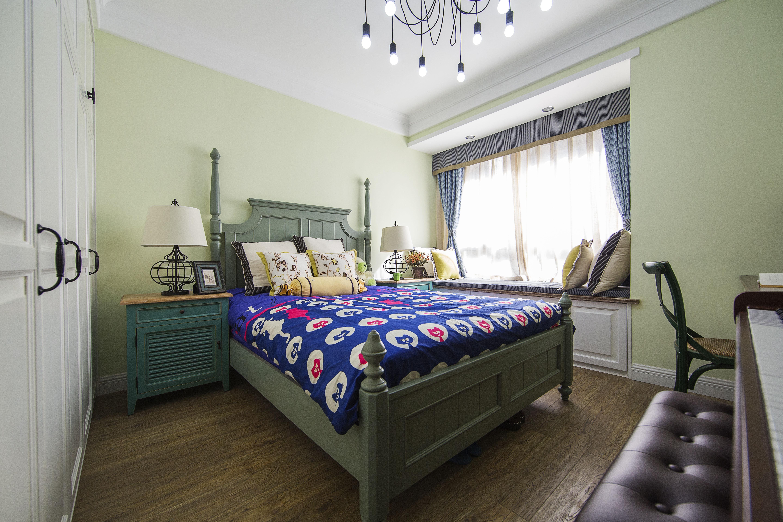 美式田园风格家卧室设计图