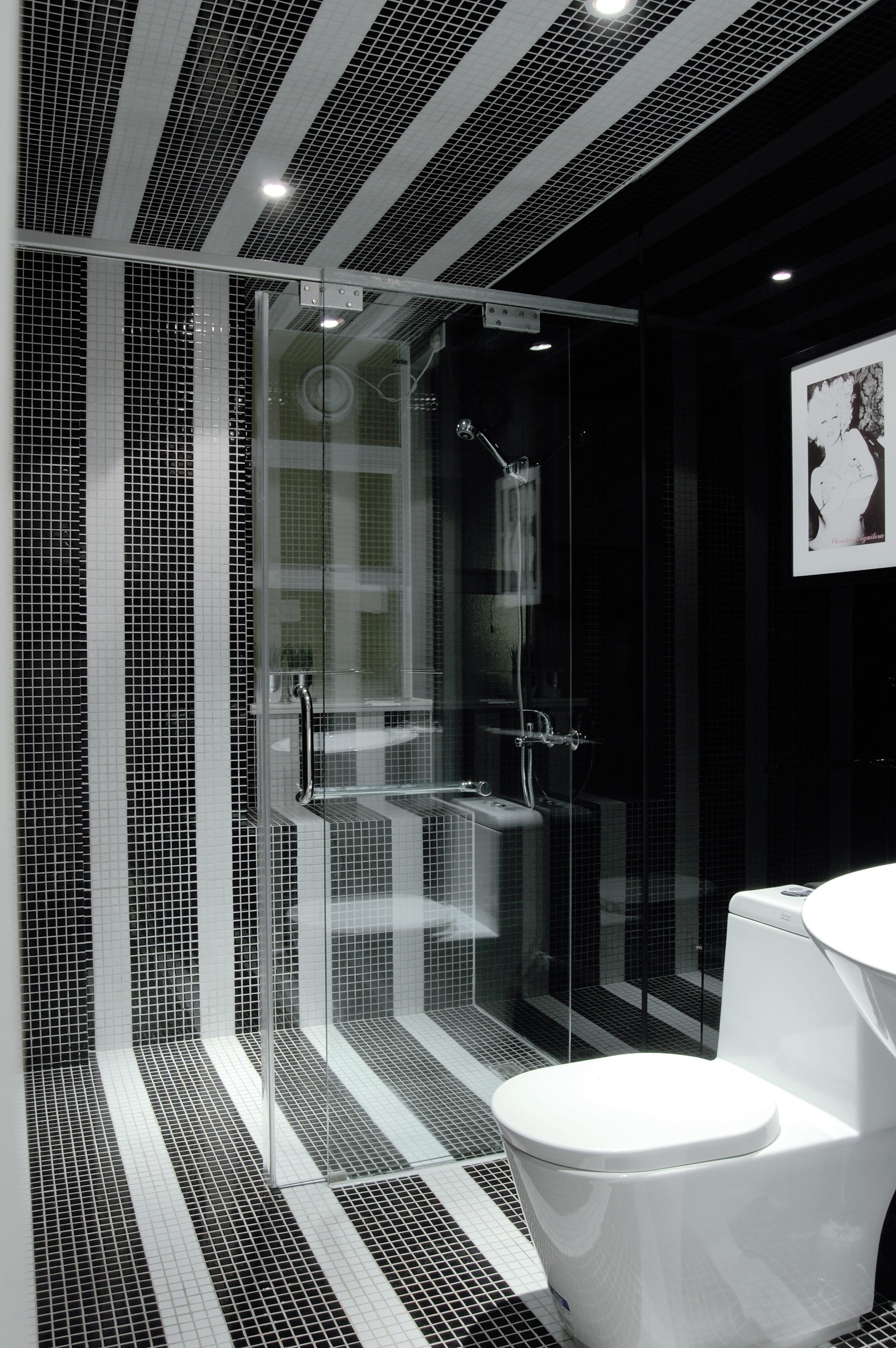 黑白灰时尚简约装修卫生间效果图