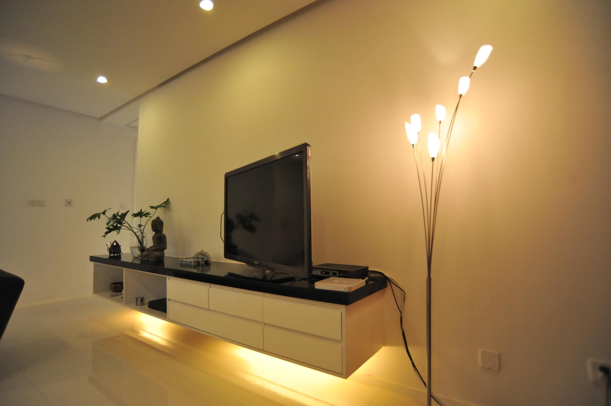 现代简约大户型设计电视柜图片