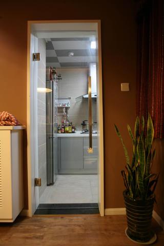 简约时尚小户型亚博唯一授权官网厨房一角