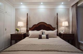 现代美式三居室装修卧室背景墙图片