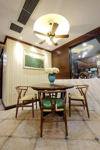 混搭风格四居室装修餐厅背景墙图片