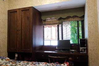 混搭风格四居室装修电脑桌图片