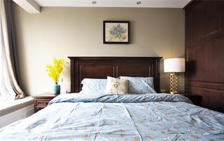 140平复古美式三居装修卧室布置图