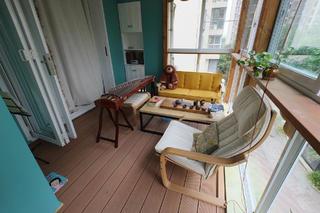 混搭风格三居室装修阳台布置图