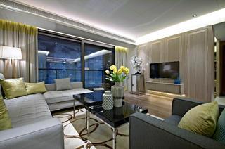 意式风格四居装修客厅效果图