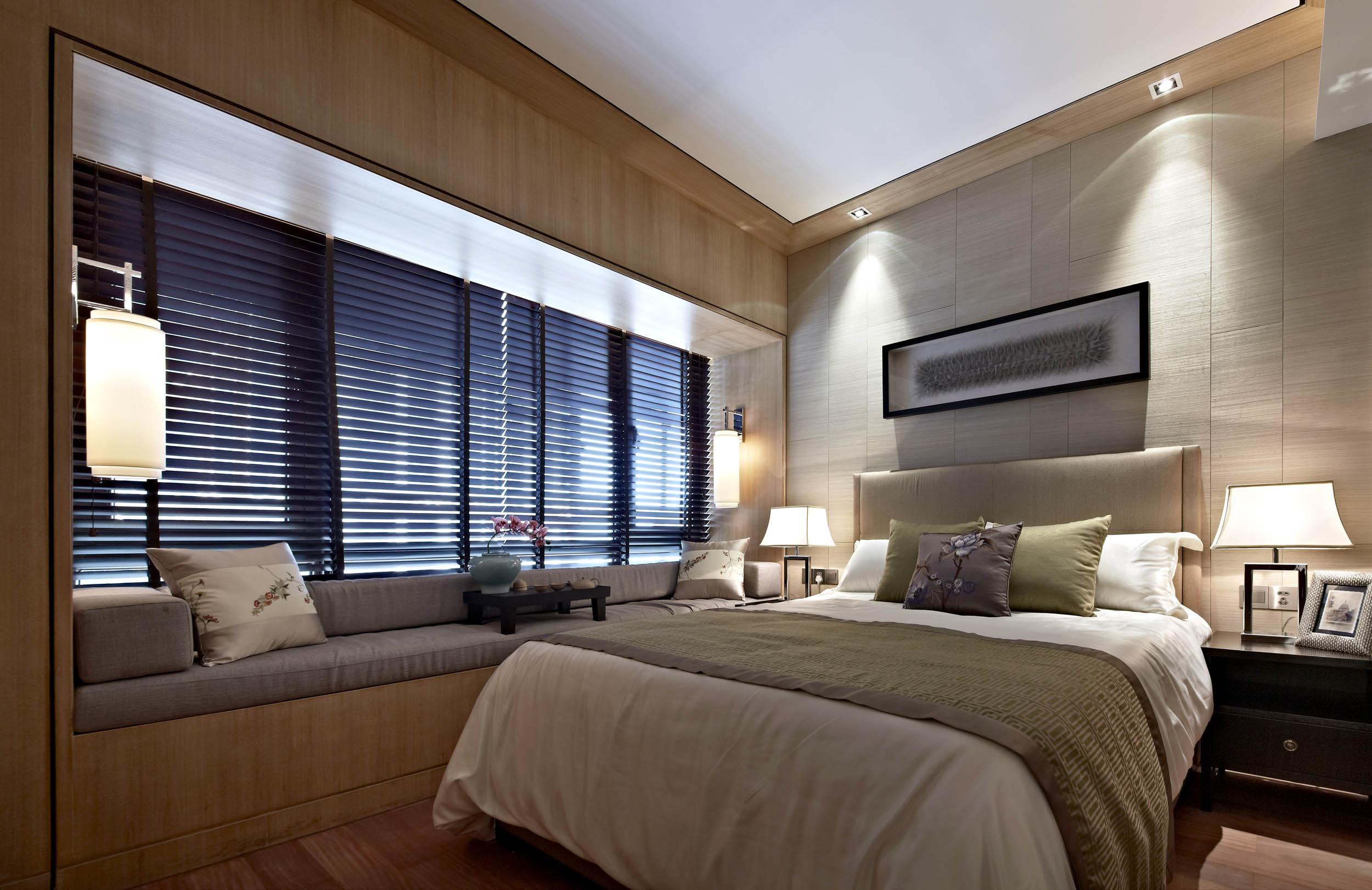 新中式四居装修飘窗设计