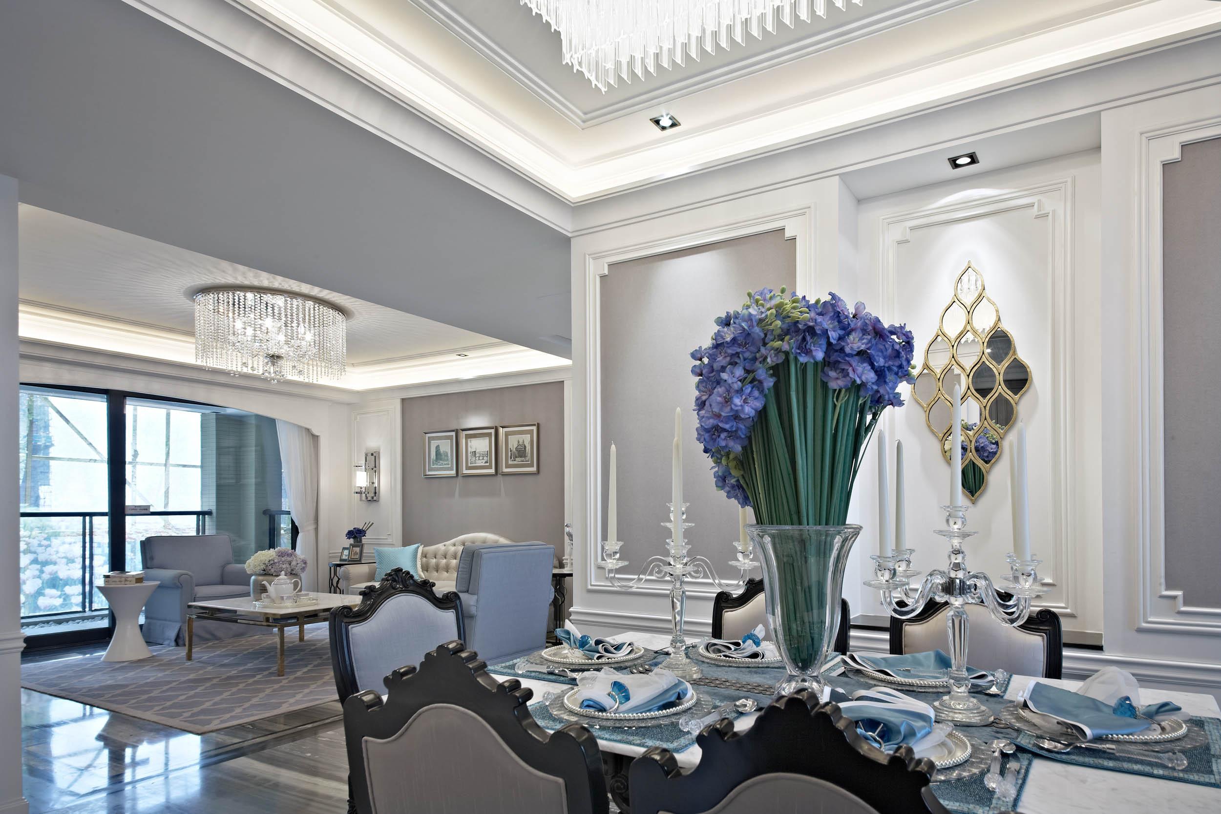 新古典四居装修餐厅效果图