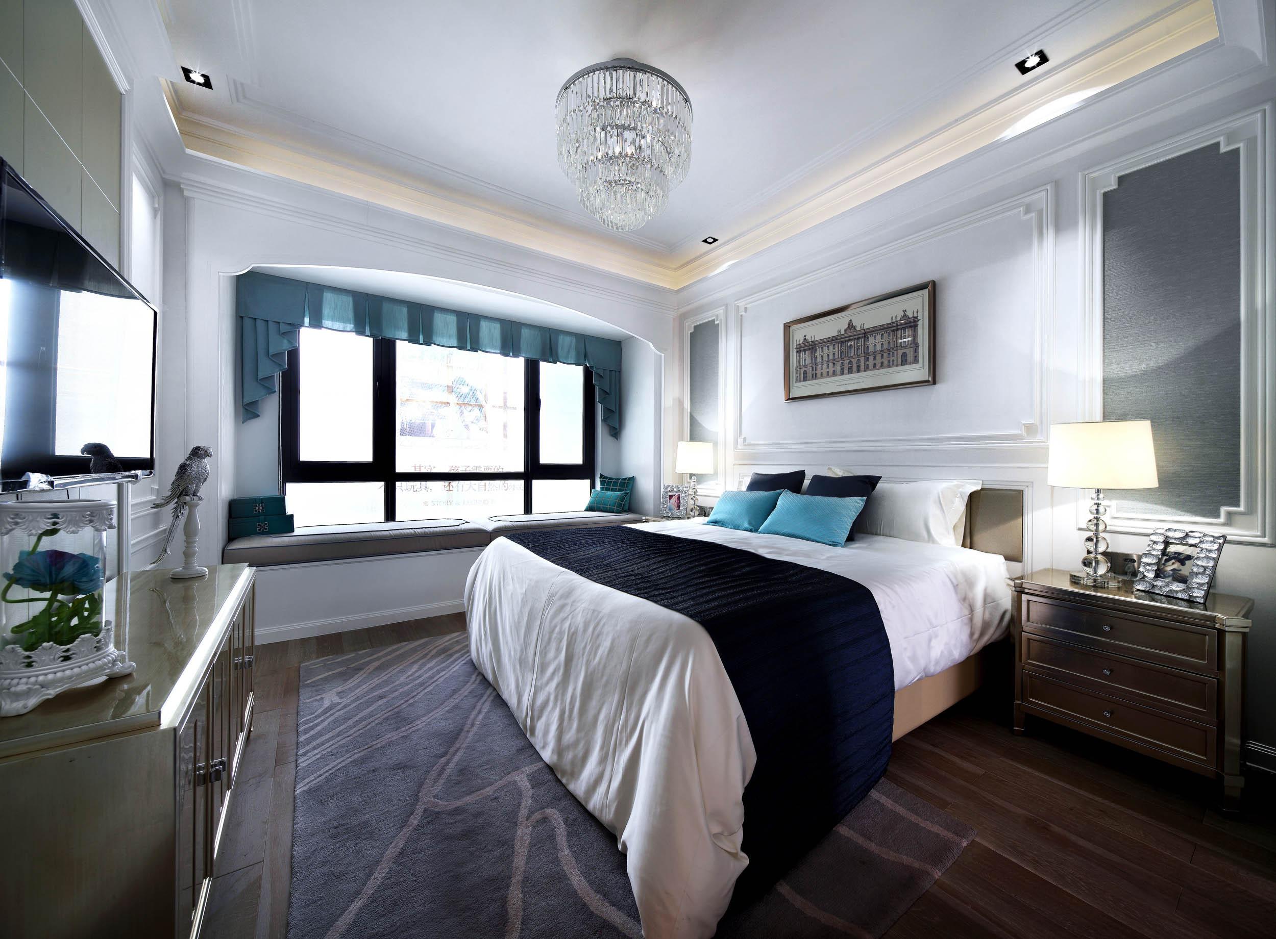 新古典四居装修卧室效果图