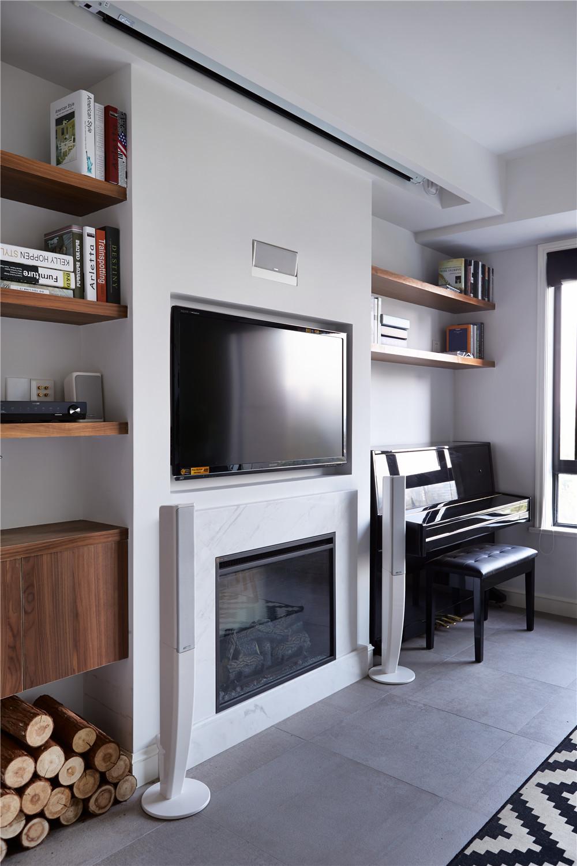 两居室北欧风格家电视墙设计