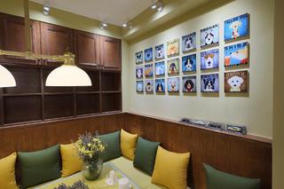 80㎡简约风格二居装修餐厅背景墙图片