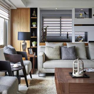 140平现代风格三居装修设计图