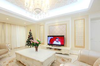 大户型法式风格装修电视背景墙图片
