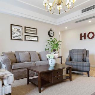 137平美式风格三居装修设计图