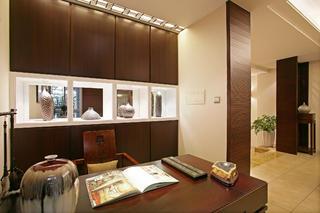 新中式别墅装修展示柜图片