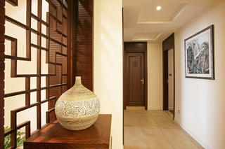 新中式别墅装修走廊设计