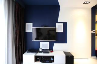 现代简约小户型电视背景墙图片