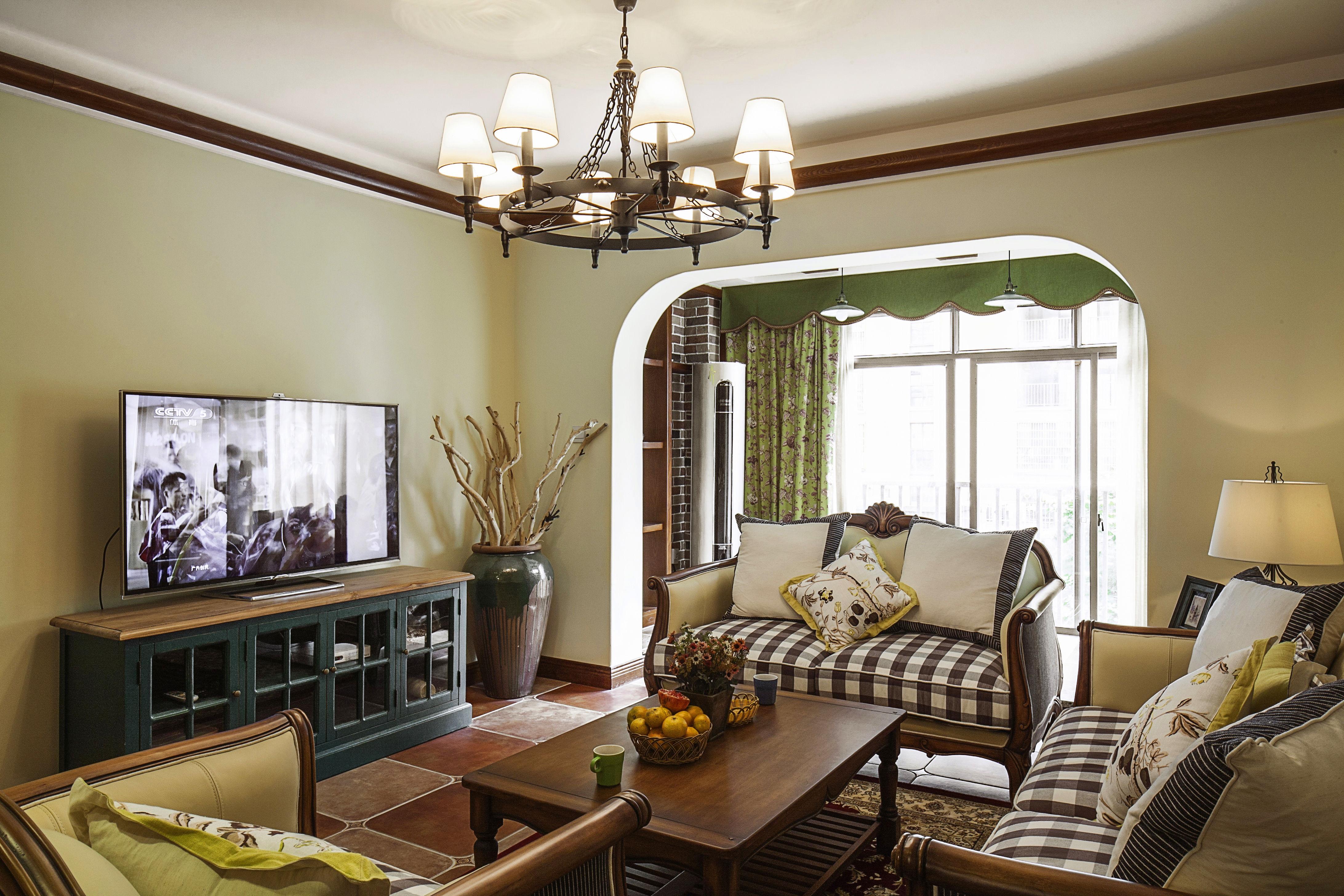 美式田园风格家客厅设计图