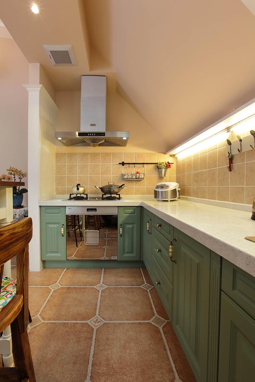 阁楼小美式之家厨房搭配图