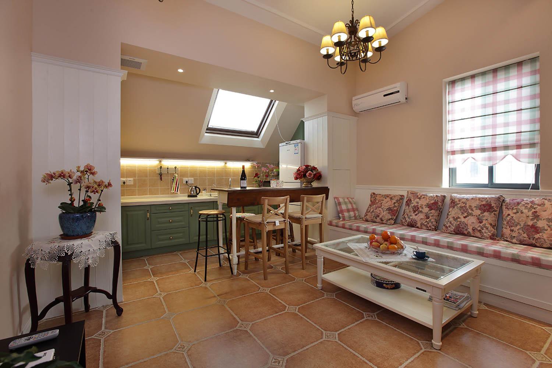 阁楼小美式之家客餐厅设计图