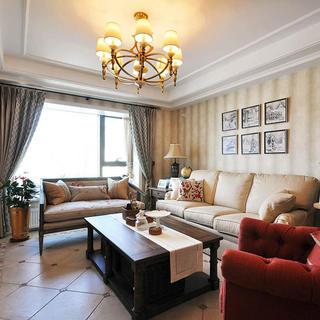 130平美式休闲三居装修设计图