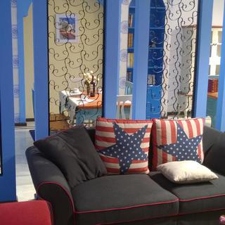 唯美地中海两居室装修实景图