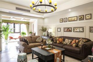 美式四居室装修客厅设计图