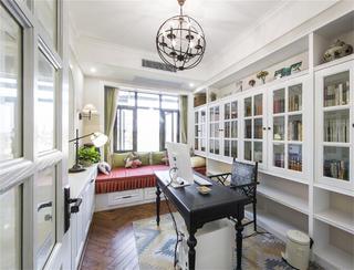 美式四居室装修书房设计图
