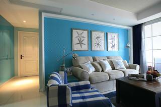混搭风格三居室沙发背景墙图片