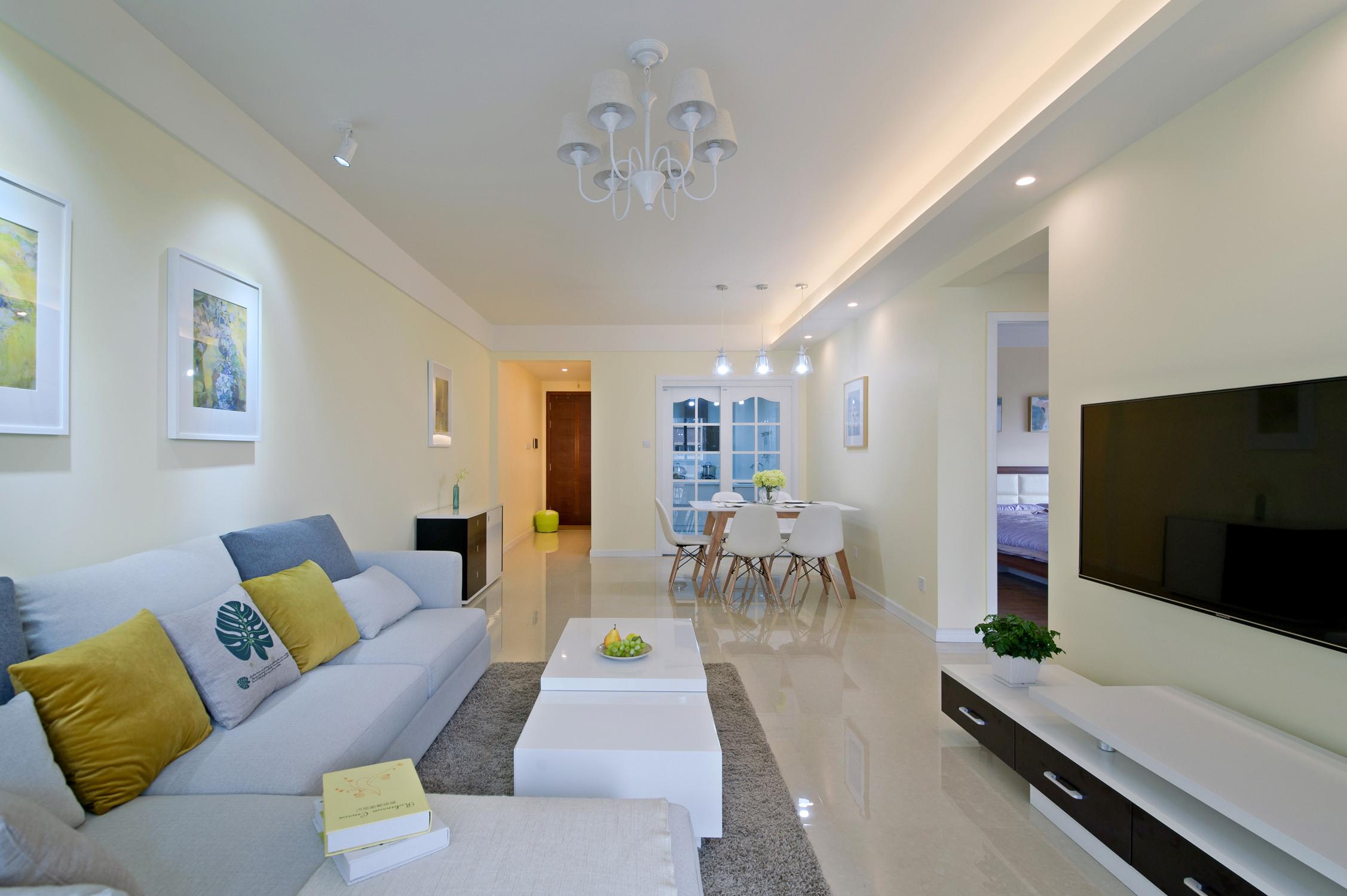 两居室简约风格家客厅设计图
