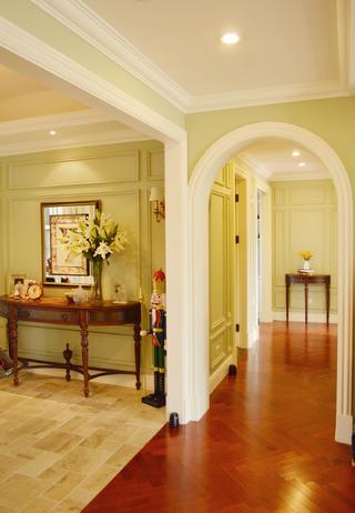 180㎡简约美式四居装修拱形门洞设计