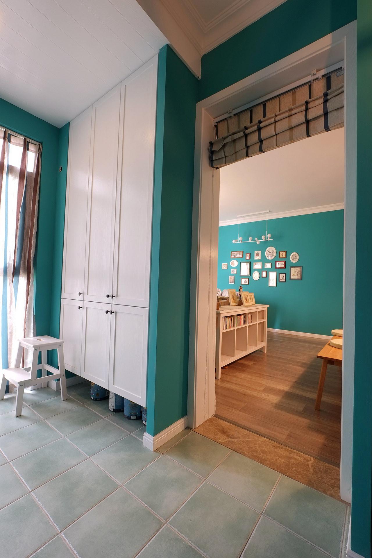 75平北欧风装修储物柜图片