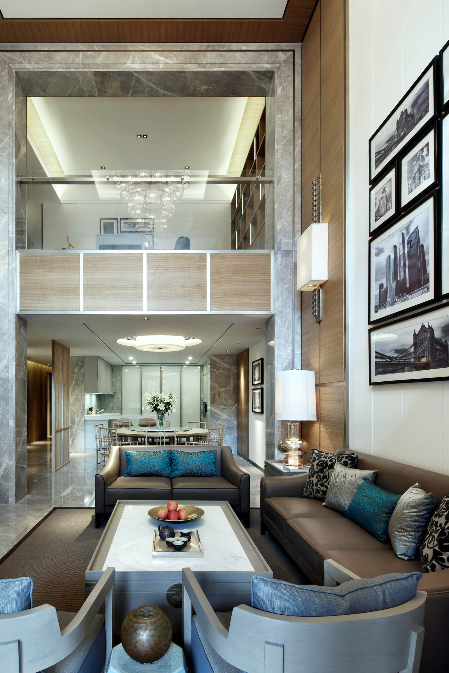 现代别墅装修沙发抱枕图片