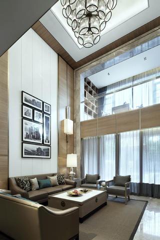 现代别墅装修沙发背景墙设计