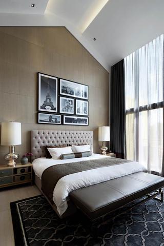现代别墅装修卧室设计图