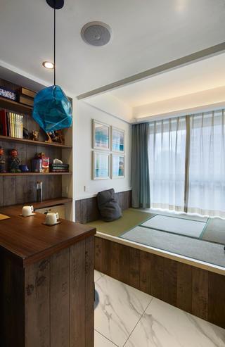 90平北欧风装修书房设计图