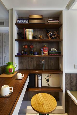 90平北欧风装修书桌图片