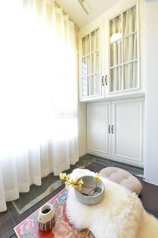 小户型美式二居装修储物柜图片