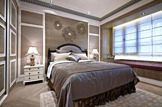 大户型法式样板房装修卧室效果图