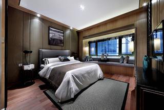 新中式四居装修卧室设计图