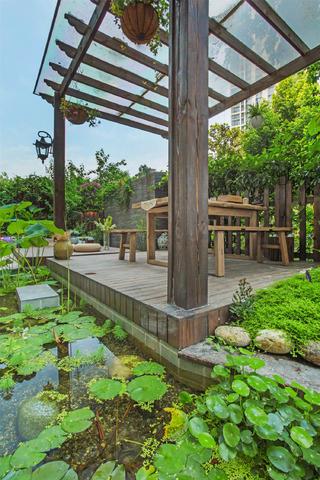 东南亚风格三居庭院实景图