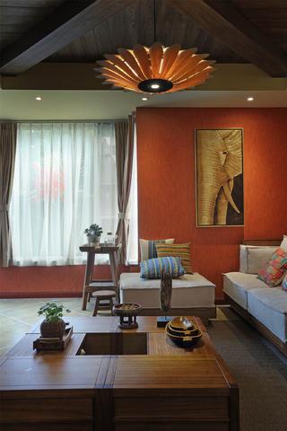 东南亚风格三居客厅一角