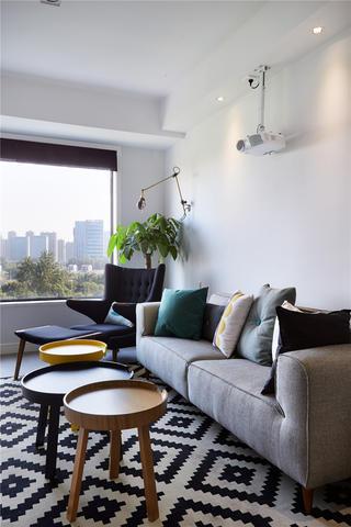 两居室北欧风格家沙发背景墙图片